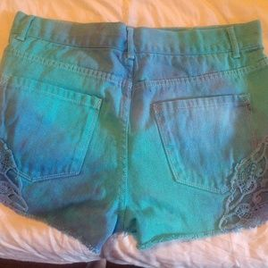Shorts - Forever 21 Tie Dye Highwaist